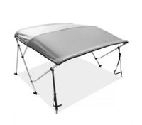 3 Bow Light Grey Boat Bimini Top 1.5m to 1.7m