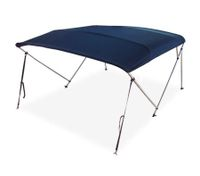 3 Bow Navy Blue Boat Bimini Top 1.5m to 1.7m