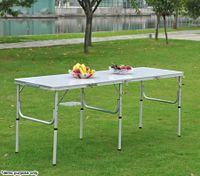 Large Portable Aluminium Fire Resistant Fold-Out Table for Picnic & Camping - 180cm x 60cm