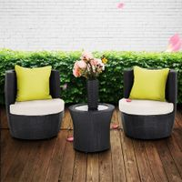3pc Wicker Lounge Furniture Set