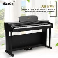 Melodic 88-Keys Digital Piano Full Size Hammer-Action Keys with Keyboard Cover