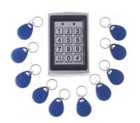 RFID Entry Metal Door Lock Access Control System + 10 Key Fobs