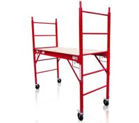 Red Safety Scaffold & Work Platform