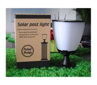 Outdoor Modern Waterproof Solar  Garden Pillar Light