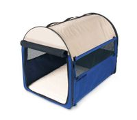 Medium Sized 62cm Long Portable Pet Carrier/House/Cage with Carrying Handle - Blue