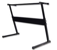 Portable Solid Keyboard Stand with Adjustable Height - Black