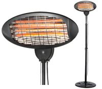 Wall Mountable Electric Outdoor Patio Heater with Stand