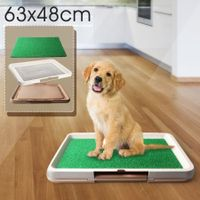 Pet Toilet Pad Indoor Dog Grass Restroom - Large - Coffee Coloured Tray