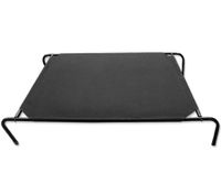 Trampoline Pet Dog Bed - 90cm x 80cm, Black