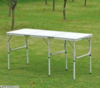 Medium Portable Aluminium Fold-Out Table for Picnic & Camping - 150cm x 60cm