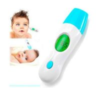 4 in 1 Digital LCD IR Infrared Thermometer Forehead Ear Ambient Clock for Baby Adult