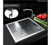 Cube-Shaped Stainless Steel Sink