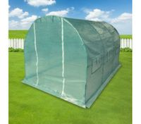 Extra Large Arch Roof 3 Metre Garden Greenhouse Shed with Mesh Cover and Window Flaps