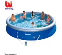 BESTWAY Fast Set Jumbo Inflatable Outdoor Pool with Filter - 457cm x 91cm/15ft