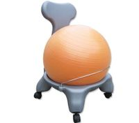 Exercise Gym Balance Ball Chair with Inflator - Orange