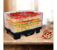 Maxkon Rectangular Food Dehydrator with Timer LCD Black