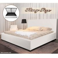 White Gas Lift Storage Bed - King