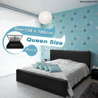 Black Gas Lift Storage Bed - Queen