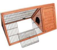 Triangular Wooden Rabbit/Guinea Pig Pet Hutch House - Fir Wood
