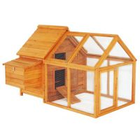 Wooden Outdoor Chicken Coop/Rabbit Hutch