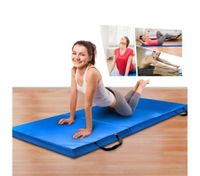 Tri-Fold Exercise Floor Mat-Blue