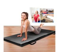 Tri-Fold Exercise Floor Mat-Black