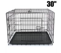 "30"" Double Door Dog Crate"