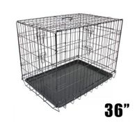 "36"" Double Door Dog Crate"