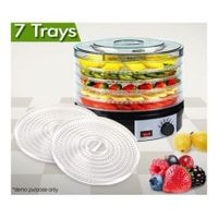 Black Food Dehydrator with 5 Removable Trays & 2 Bonus Trays