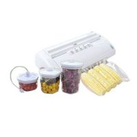 Maxkon Vacuum Food Preservation Heat Sealer w/ Free Bag Rolls + 3 pcs Vacuum Canister Marinator Set