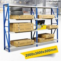 2 X Garage/Warehouse Storage Metal Shelves Racking Stand up to 800KG