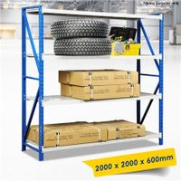 2M x 2M Garage/Warehouse Storage Metal Shelves Racking Stand up to 450KG
