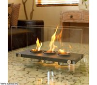 Home Expression Eco Friendly Rectangle Fireplace - 3 Pots