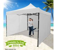 3 x 3 Metre Portable Outdoor White Pop Up Gazebo / Canopy