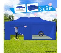 3 x 6 Metre Portable Outdoor Blue Pop Up Gazebo / Canopy