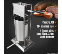 15 Litre Stainless Steel Sausage Filler