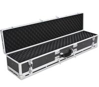 Hard Shell Aluminium Double Gun Case - Black