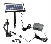 3.5W Solar Power Fountain/Pond/Pool Water Feature Pump Kit with Timer & LED Lights