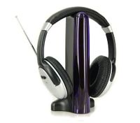 4 in 1 Headset TV/PC/Mac/MP3/CD/DVD Online Chat Hi-Fi Wireless Cordless Headphone - Silver
