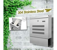 Wall Mounted Stainless Steel Industrial Mailbox