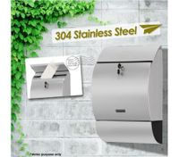 Wall Mounted Stainless Steel Industrial Letterbox