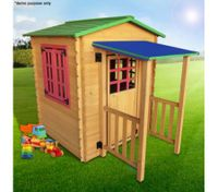 Outdoor Wooden Cubby Playhouse