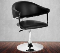 Black Contemporary Adjustable Bar Chair