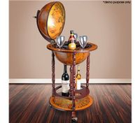 Antique Globe Bar Cabinet /Drink Trolley