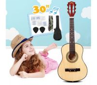 "30"" Kids Steel String Acoustic Guitar Pack (natural)"