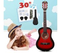 "30"" Kids Steel String Acoustic Guitar Pack (red)"