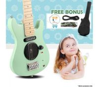 "30"" Kids Electric Guitar Pack (Apple Green)"