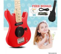 "30"" Kids Electric Guitar Pack (Red)"