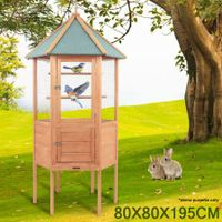 Large Weather Proof Wooden Bird Cage