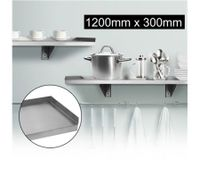 Stainless Steel Wall Mounted Shelf-1200mm x 300mm